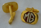 MG Marque Vintage Enamel and Gold Plate Cufflinks (SOLD)